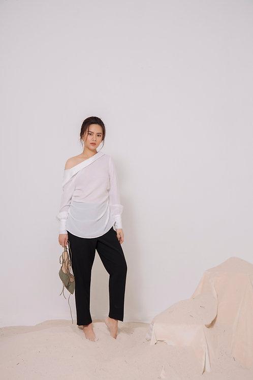 Open CollarLinen Shirt
