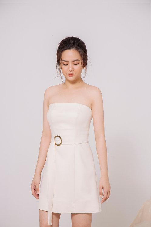 Belted Tube Shape Dress