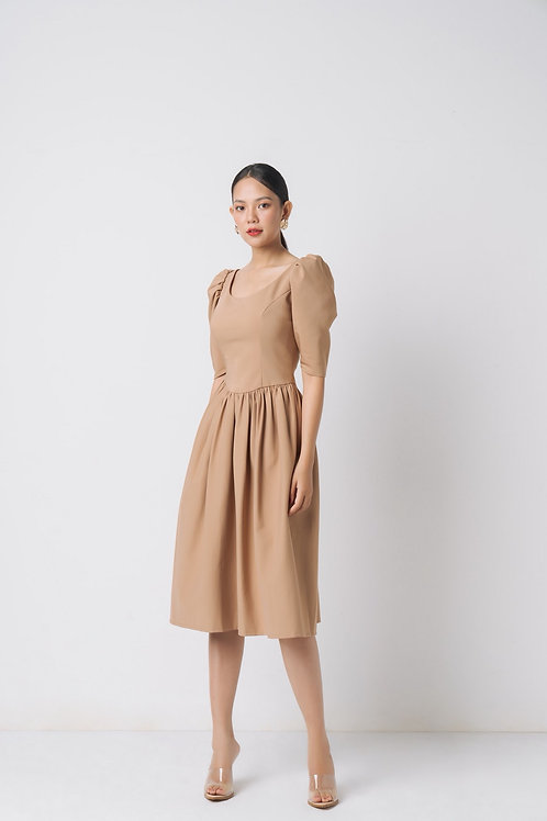 FAILLE DRESS WITH BOW