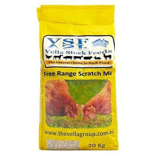 Vella Free Range Scratch Mix - 20kg