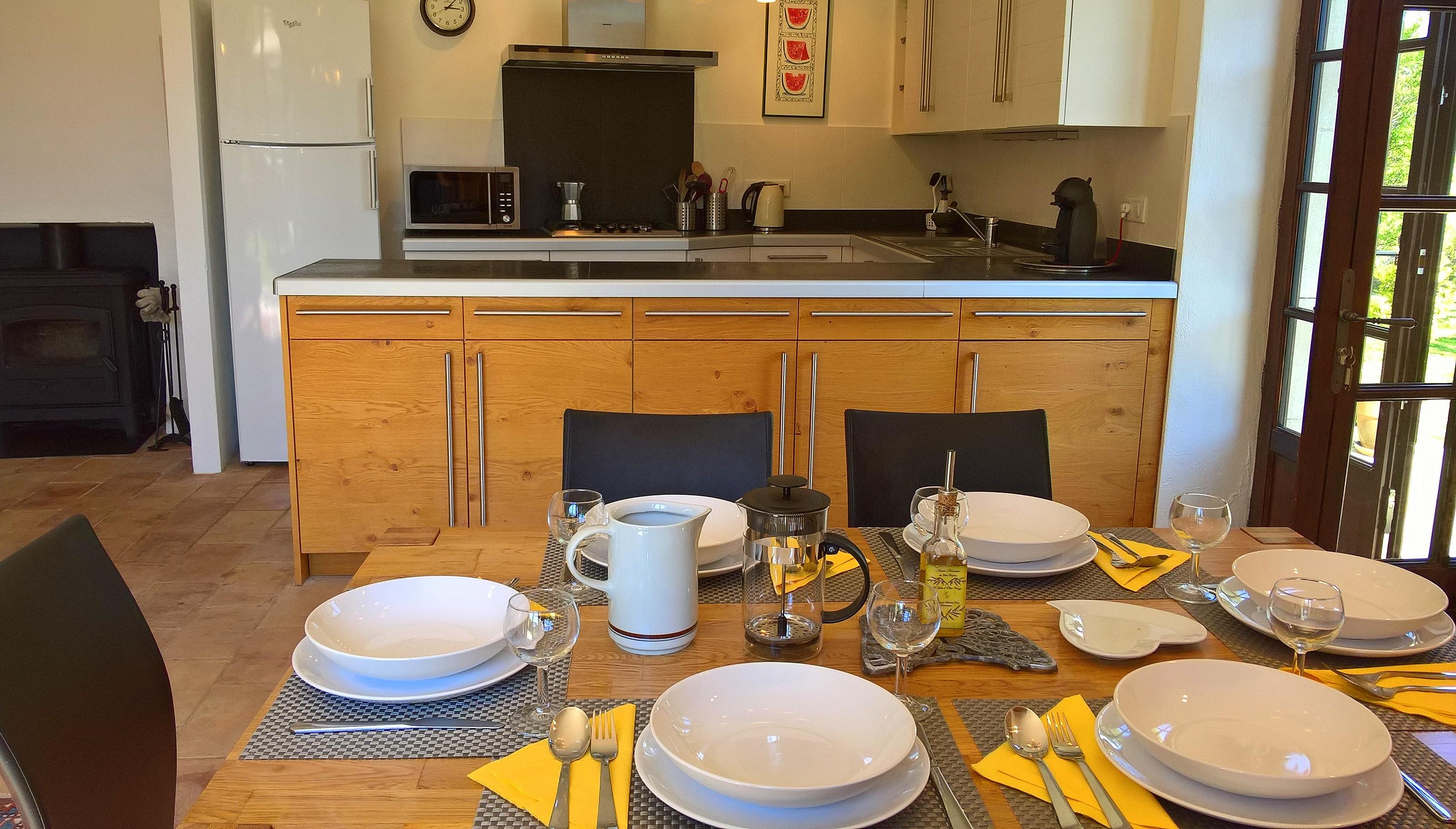 Blick auf die 35m² Küche