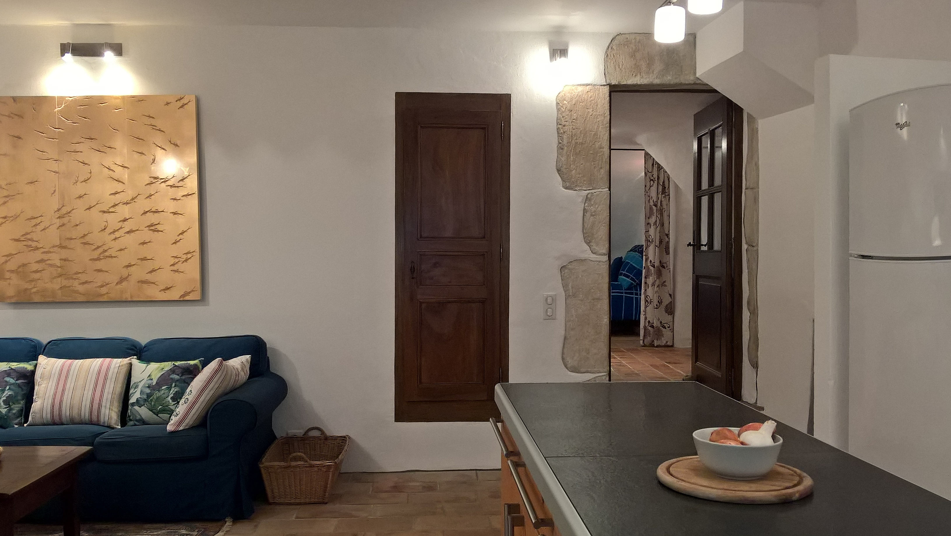 View from kitchen towards hallway