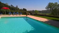 The large heated pool