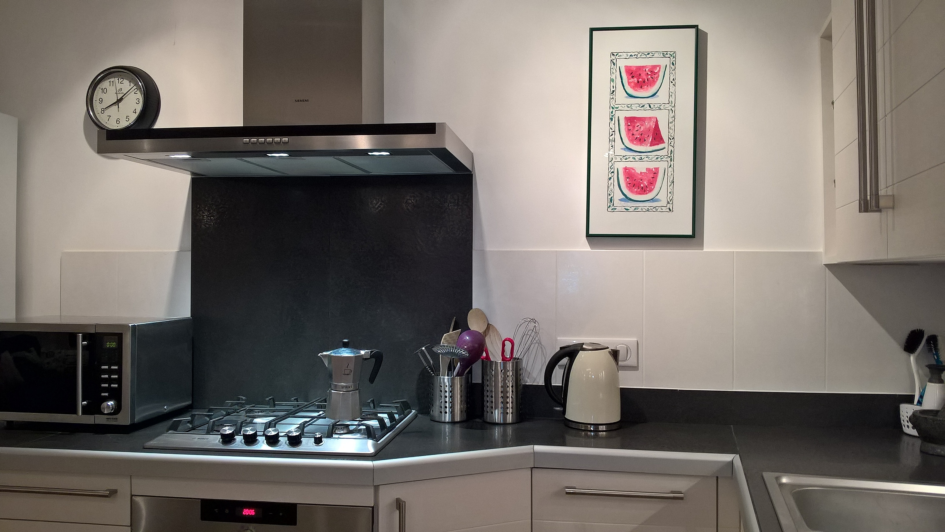View of open-plan kitchen