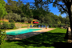 The pool with sunbathing areas