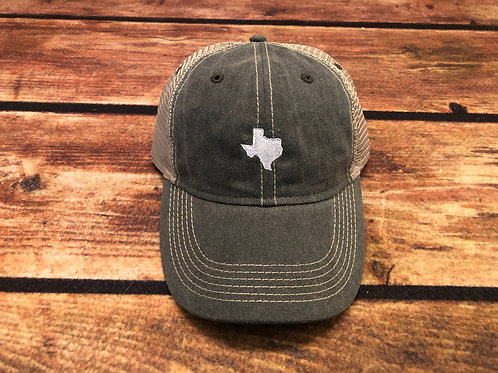 Distressed Texas Trucker - Gray