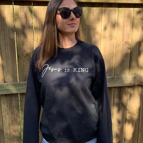Jesus is King Black Sweatshirt