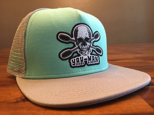 YAK-MAN Flat Bill Snap-Back SeaFoam/Steel