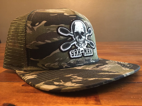 YAK-MAN Flat Bill Snap-Back Tiger Camo