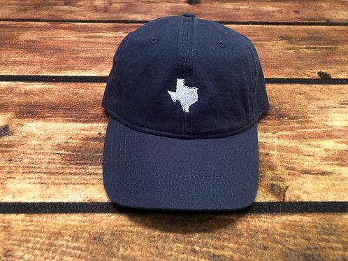 Texas Dad Hat- Dark Blue