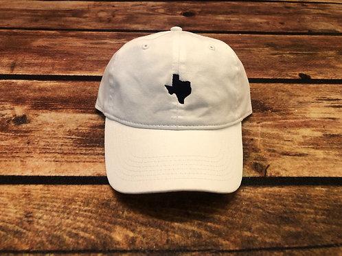Texas Dad Hat- White