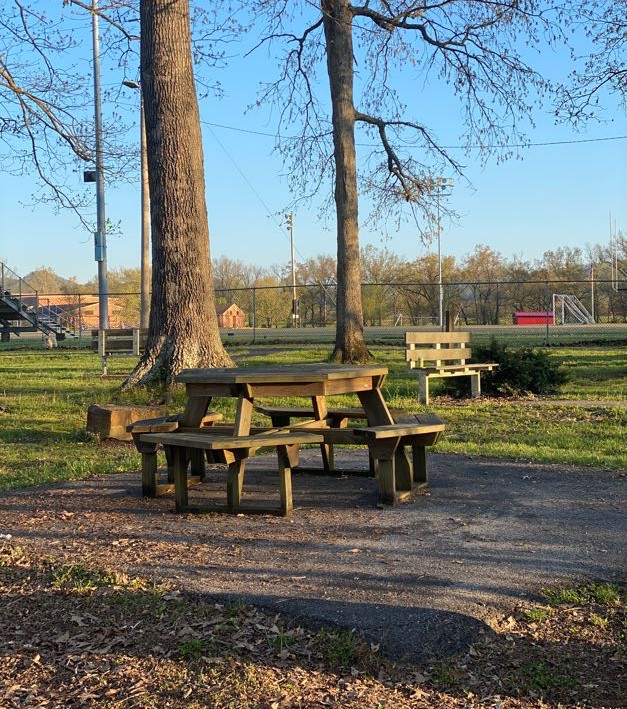 Walking Trail picnic table and bench.jpg
