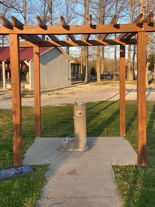 Walking Trail dog fountain pergola.jpg