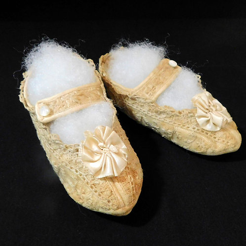 Needle Lace Shoes for Baby c1920