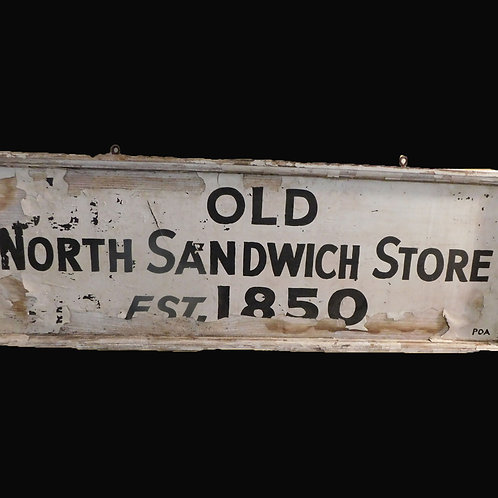 North Sandwich Store Sign Early 20thC