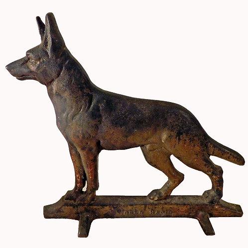 Cast Iron German Shepherd Doorstop World Radio
