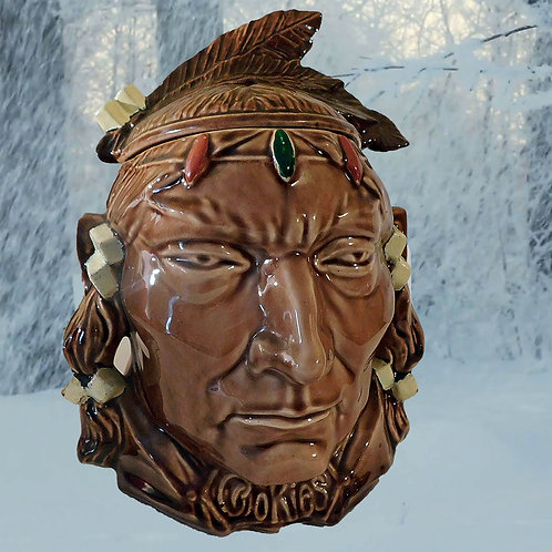 Original McCoy Indian Head Cookie Jar