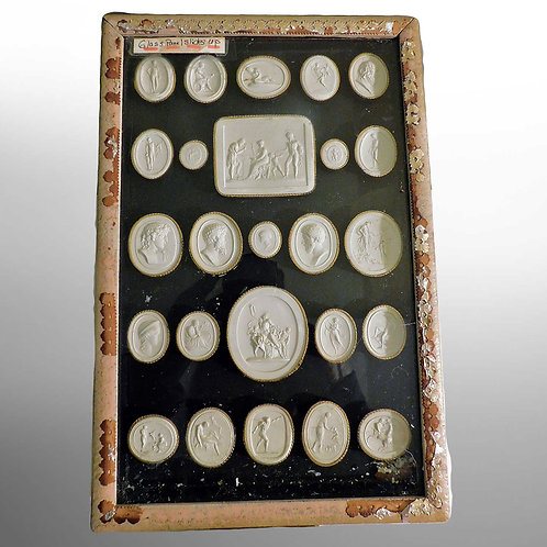 Grand Tour Cased Set of Neoclassical Cameo Seals c1840