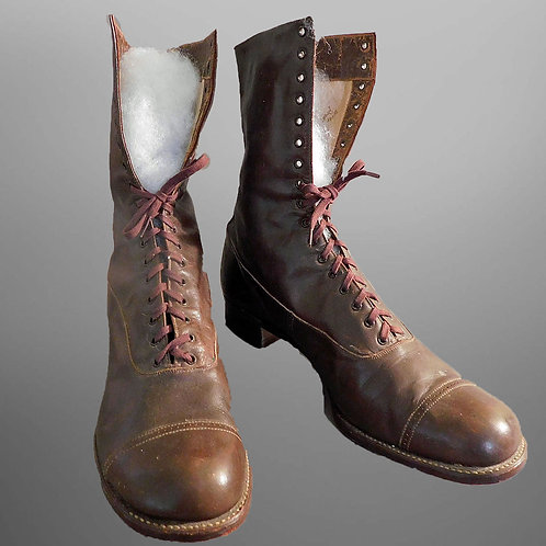 Buttery Soft Leather Field Boots for M'Lady c1900