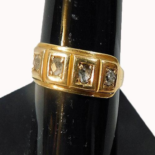 18Kt Gold 5 Diamond Ring 1877-8