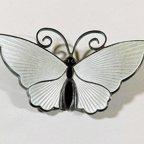 David Andersen Butterfly in Sterling Silver & Enamel c1960