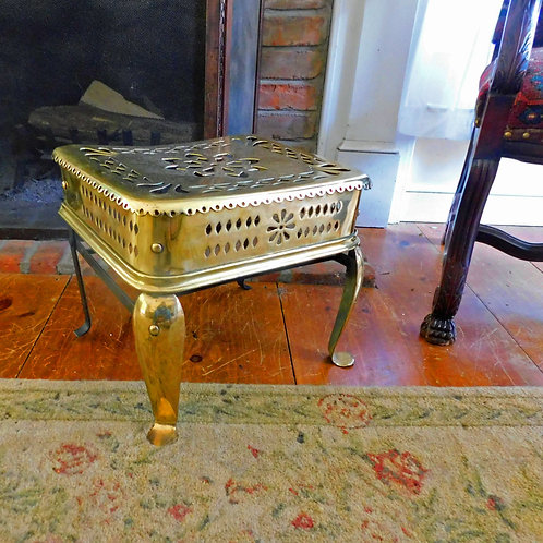 Brass Footman for the Open Hearth c1850