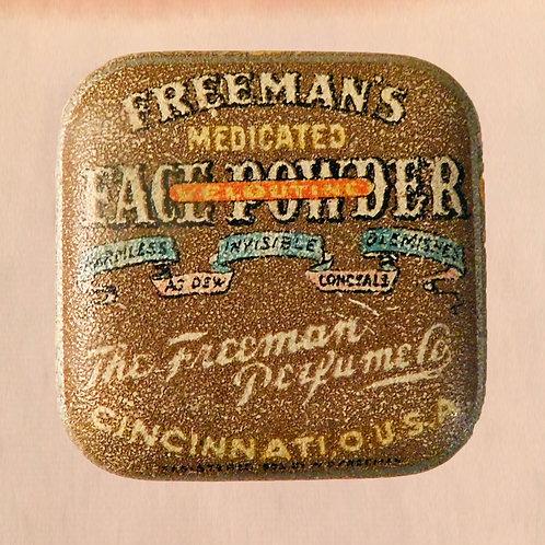 Freeman's Veloutine Face Powder in its Tiny Tin c1912