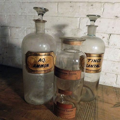 Apothecary Bottles c1890