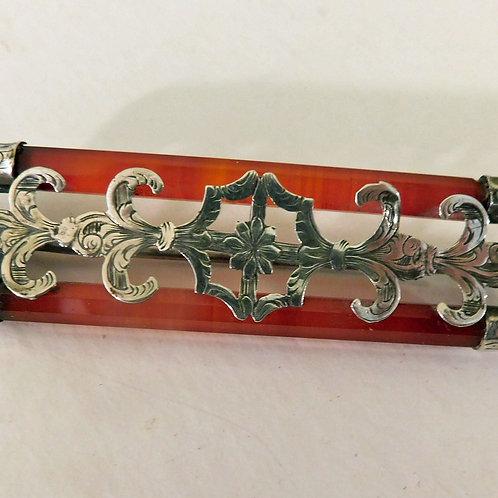 Scottish Pebble Brooch c1870-90