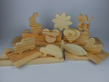 DEKOsocial figuras creativas de madera