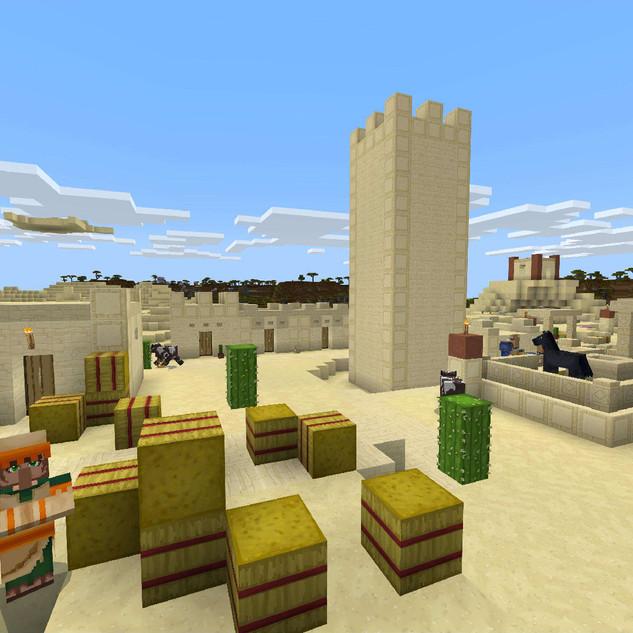 Colour Fantasy Desert Village