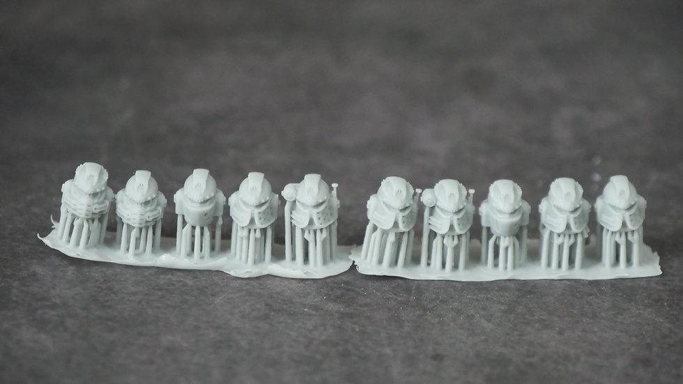 3D Printed Hydra Alpha Omega Sign Legion Heads (10 heads per pack)