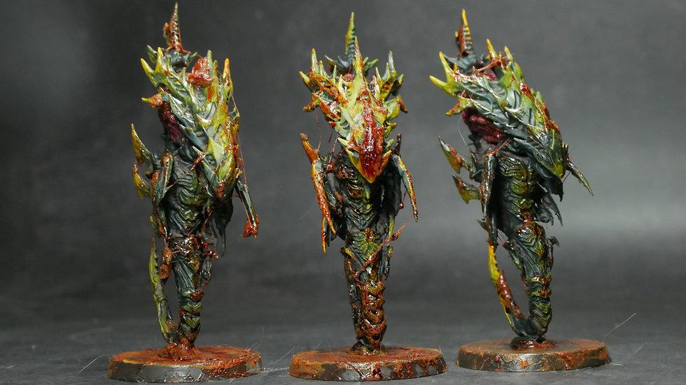 Alien Fleet Diablo- Brain Worm (One set of 3 worms) - Grey Kit
