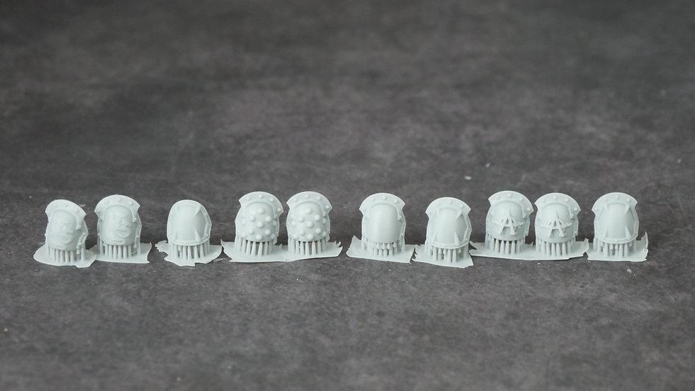 3D Printed Hydra Alpha Legion Shoulder Pads (10 shoulderpads per pack) Warhammer