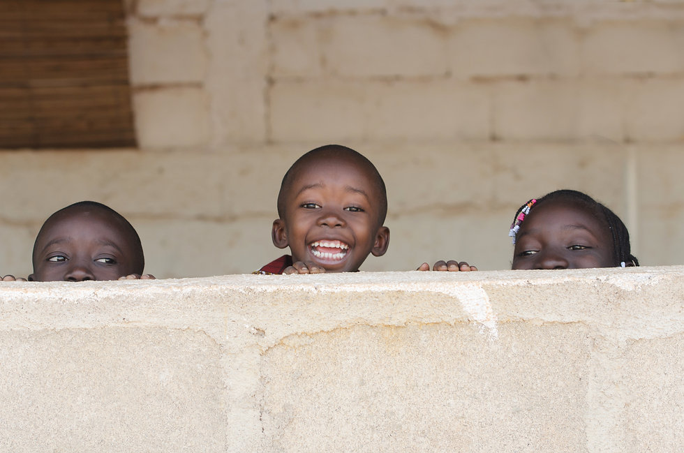 Black African Children Smiling Playing L
