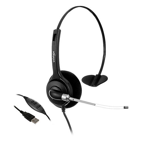 Headset Fone Ouvido Usb Hd800 Flex Unixtron