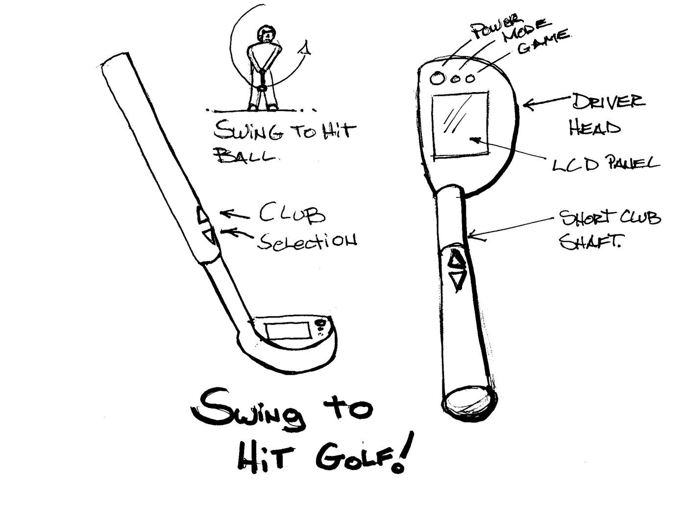Tiger Golf Sketch