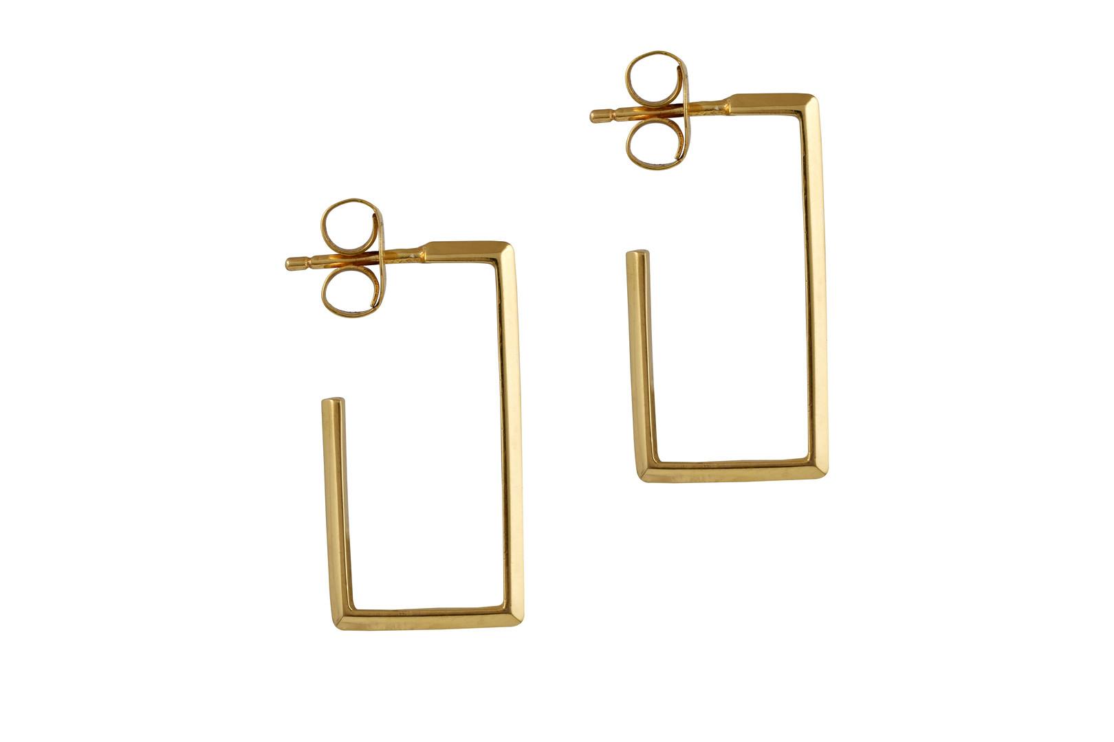 Rectangle Pipe Earrings