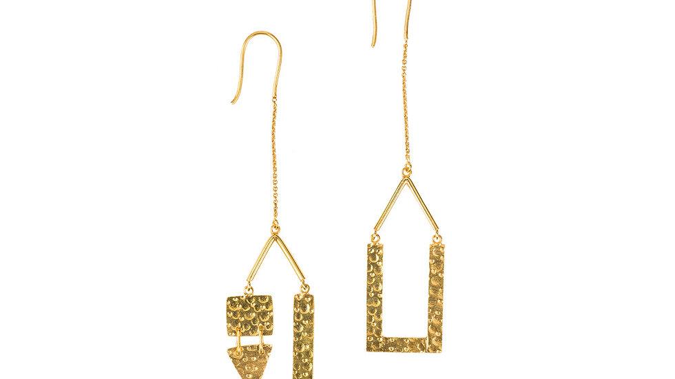 Asymmetrical Hammered Earrings