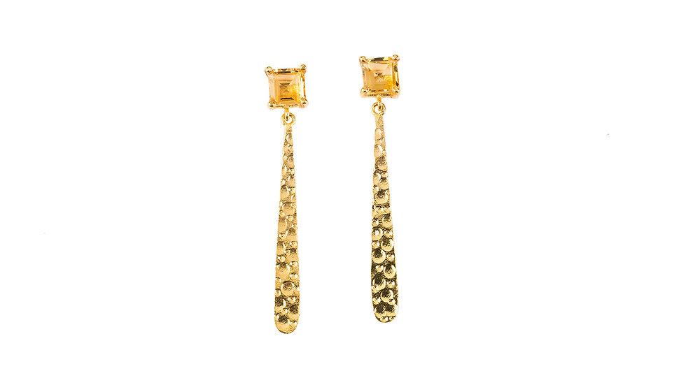 Hammered Plate Earrings