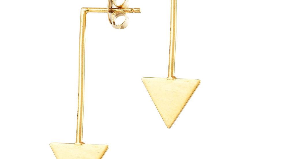 Triangle Flat Earrings