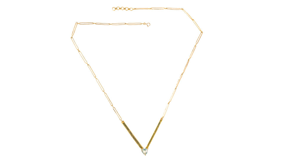 V Plate Necklace