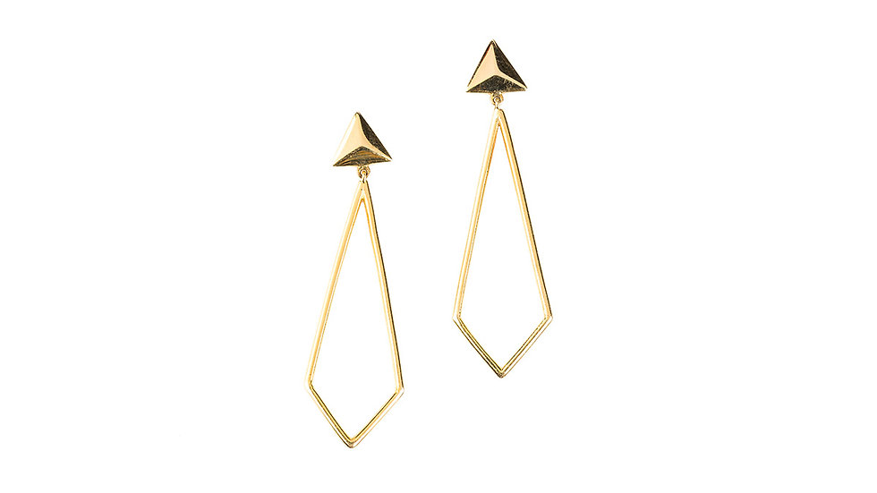 Triangle Pyramid Earrings