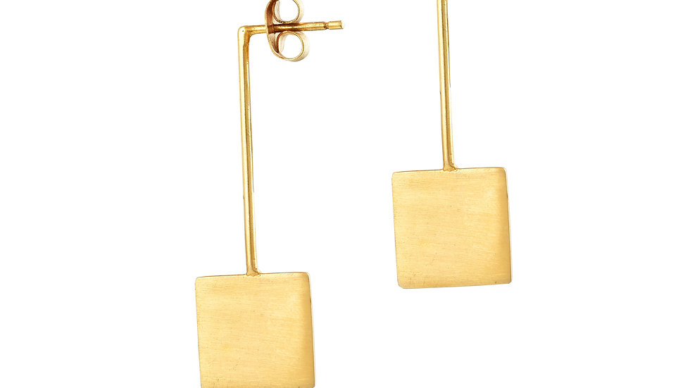 Square Flat Earrings