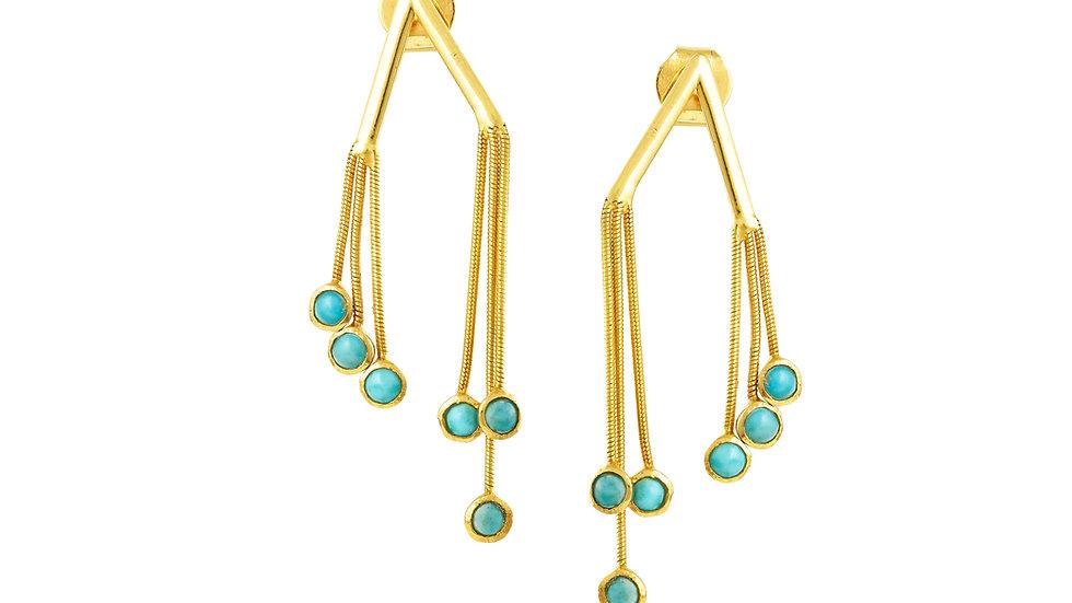 V Turquoise Earrings