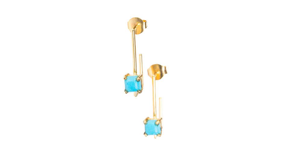 Turquoise Pipe Earrings
