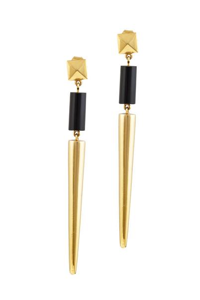 Black Onyx Spike Earrings