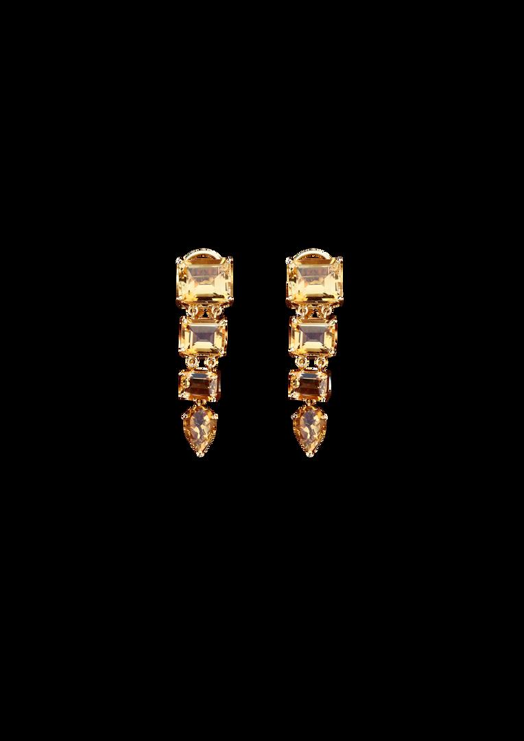 Layered Citrine Earrings
