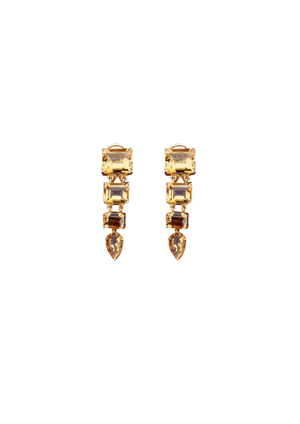 Layered Citrine Earrings