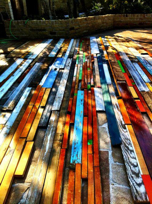 Mapping out a reclaimed wood wall
